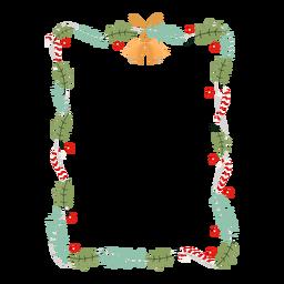 Insignia de etiqueta de rama de guirnalda de marco