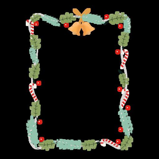 Insignia de etiqueta de rama de guirnalda de marco Transparent PNG
