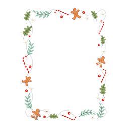 Frame garland branch toy sticker badge