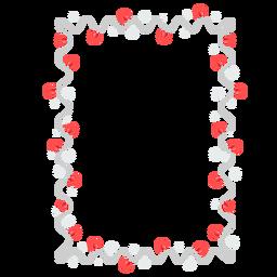 Rahmen Girlande Birne Schneeflocke Aufkleber Abzeichen
