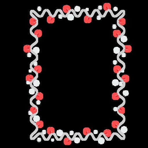 Insignia de etiqueta de copo de nieve de bombilla de guirnalda de marco Transparent PNG