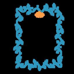 Etiqueta engomada de la insignia de campana de hoja de guirnalda de marco