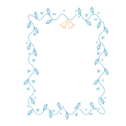 Quadro guirlanda folha sino emblema adesivo