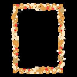 Insignia de etiqueta de rama de hoja de guirnalda de marco