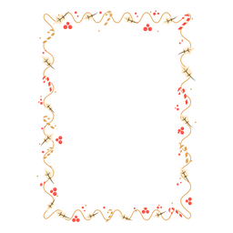 Frame garland leaf candy cane sticker badge