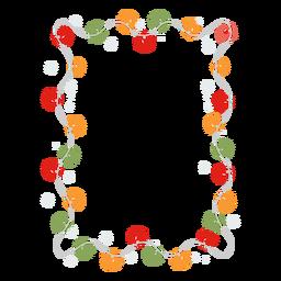 Distintivo de etiqueta do quadro guirlanda floco de neve
