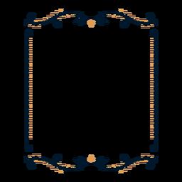 Rahmen Blatt Abzeichen Aufkleber