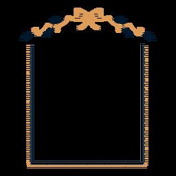 Etiqueta engomada del marco de la hoja del arco