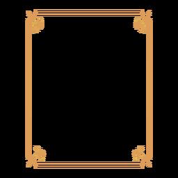 Rahmen Blatt Aufkleber Abzeichen