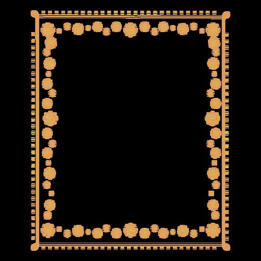 Insignia de etiqueta de copo de nieve de marco Transparent PNG
