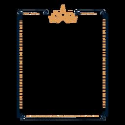 Etiqueta engomada de estrella con marco