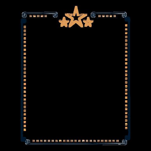 Etiqueta engomada de estrella con marco Transparent PNG