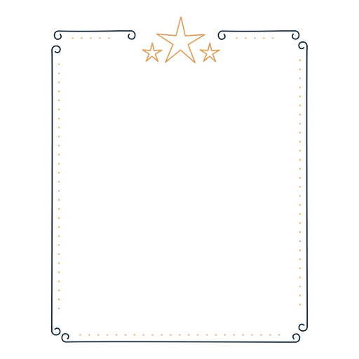 Frame star badge sticker Transparent PNG