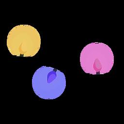 Garland ball bulb flat
