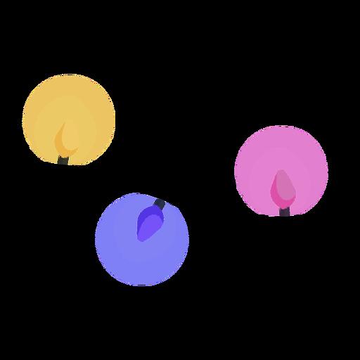 Bombilla de bola plana Garland Transparent PNG