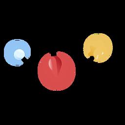 Ilustración de estrella de bola de guirnalda
