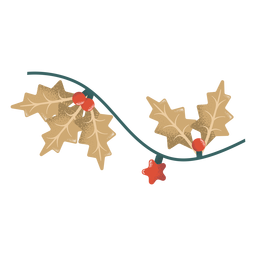 Garland leaf ball star illustration