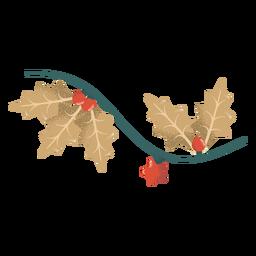 Guirlanda folha bola estrela ilustração