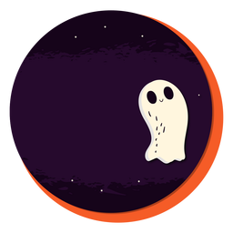 Ghost badge sticker