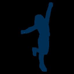 Silueta de postura de baile de niña