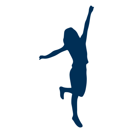 Girl dance posture silhouette Transparent PNG