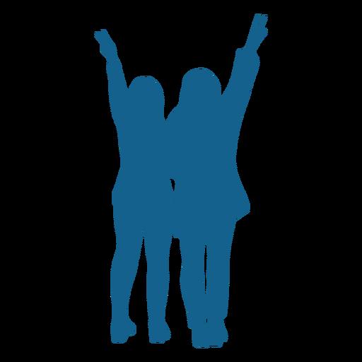 Girl pair posture silhouette Transparent PNG