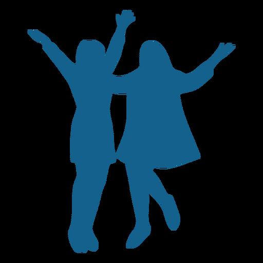 Girl posture pair silhouette