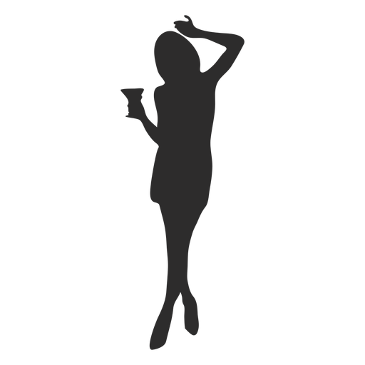 Girl woman glass silhouette Transparent PNG