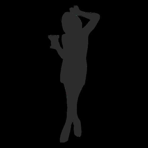 Niña mujer vidrio silueta Transparent PNG