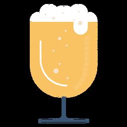 Silueta detallada de cerveza de vidrio