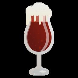 Vaso de espuma de cerveza oscura plana