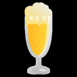 Espuma de cerveja de vidro luz plana