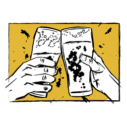 Glass beer illustration