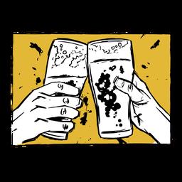 Ilustración de cerveza de vidrio