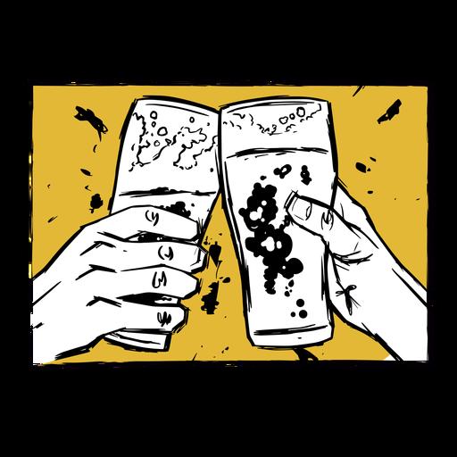 Glass beer illustration Transparent PNG
