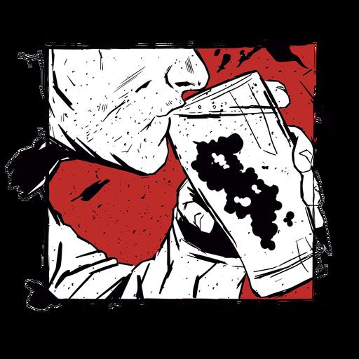 Glass beer man illustration Transparent PNG