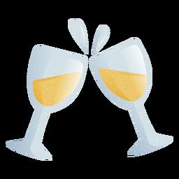 Glass drink illustration
