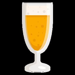 Glasschaum leichtes Bier flach