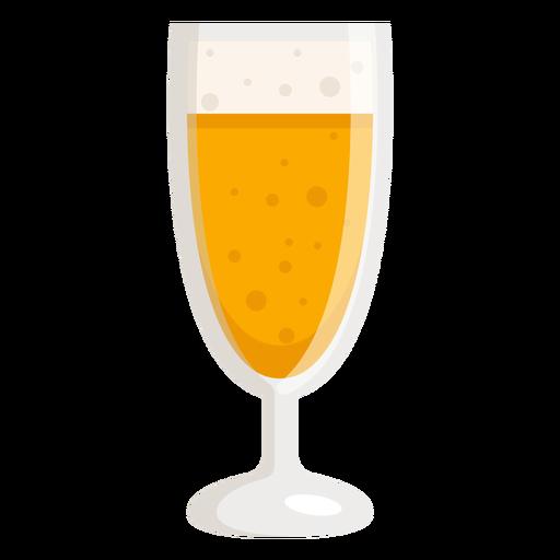 Glass light beer foam flat Transparent PNG