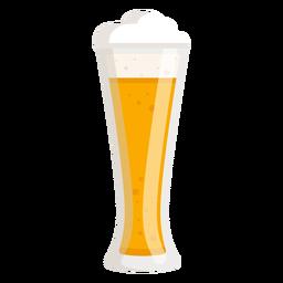 Cerveza de espuma ligera de vidrio plana