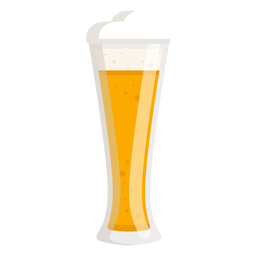 Glass light foam beer flat