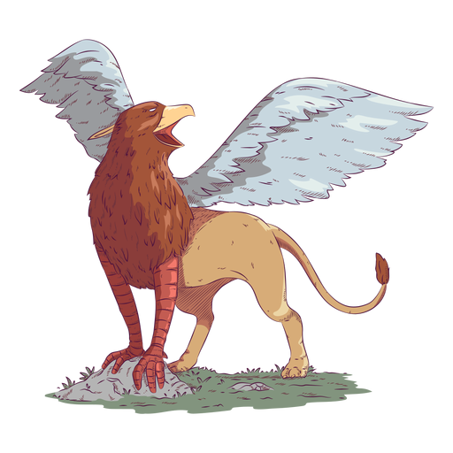Griffin gryphon colored coloured illustration