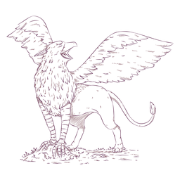 Griffin gryphon illustration