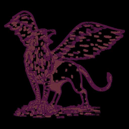 Ilustración de grifo grifo Transparent PNG