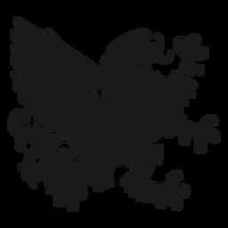 Griffin grifo ala cola silueta
