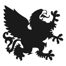 Griffin gryphon wing tail silhouette