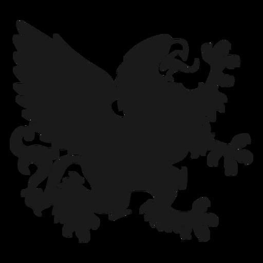 Griffin grifo ala cola silueta Transparent PNG