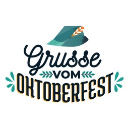 Grusse vom oktoberfest hat cap badge sticker
