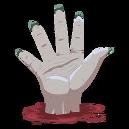 Ilustración de sangre de mano