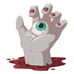 Hand eye blood illustration